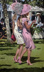 Ascot Chic I by Sherree Valentine Daines - Hand Finished Limited Edition on Canvas sized 10x16 inches. Available from Whitewall Galleries
